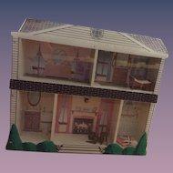 Vintage Doll Dollhouse Miniature Display Unusual House