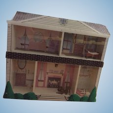 Vintage Doll Dollhouse Miniature Display Unusual House