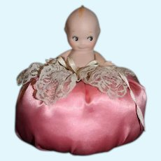 Artist Doll Kewpie Pincushion Pin Cushion Miniature