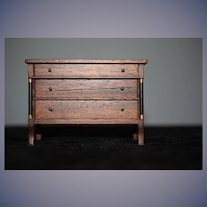 Old Doll Sweet Miniature Dollhouse Chest