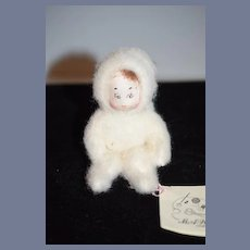 Artist Doll Miniature MAW Originals Snow Baby Cloth Doll