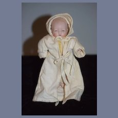 Vintage Artist Doll All Bisque Made for UFDC 1988 By VP Baby Doll Wonderful Miniatures