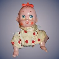 Vintage Wind Up Crawling Baby Doll Miniature Cute!