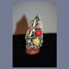 Vintage Doll Miniature Decorated Christmas Tree For Dollhouse