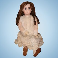 "Antique Doll French Bisque TeTe Jumeau 31"" Tall GORGEOUS"