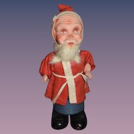 Old Doll German Santa Jointed Arms Papier Mache Candy Container of Figure Bersnickle