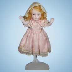 Antique Doll All Bisque Jointed Miniature Dollhouse 329 Kestner