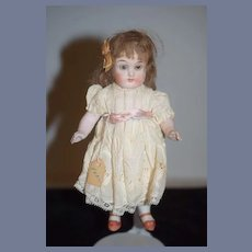 Antique Doll All Bisque Miniature Dollhouse Fancy