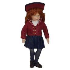 Beautiful Doll Artist Doll Maggie Iocono No. 5 Alexandra Gorgeous Cloth Doll Felt Doll