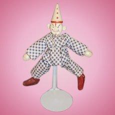Antique Doll Schoenhut Wood Clown Doll Circus