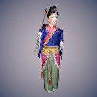 Old Oriental Lady in Original Box  W/ Old Tag Doll