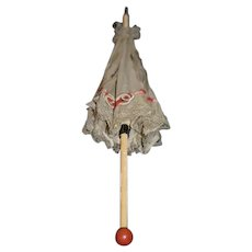 Old Doll Miniature Umbrella Parasol Sweet For Display