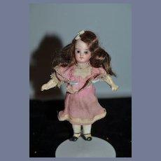 Antique Doll Miniature Bisque Dollhouse Doll