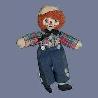 Vintage Doll Miniature Raggedy Andy Doll Friend Cloth Doll