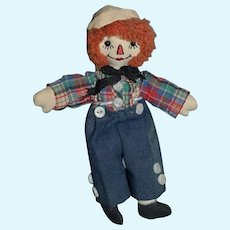 Vintage Doll Miniature Raggedy Andy Doll Friend Cloth Doll