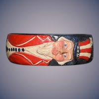 Carved Jim Shore Carved and Painted Uncle Sam Bracelet
