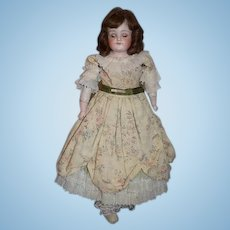 Antique Doll Bisque Head Closed Mouth Kestner Glass Eyes