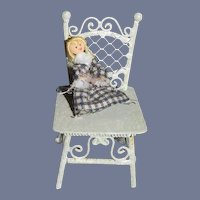 Miniature Doll Artist Doll Dollhouse Doll in Chair