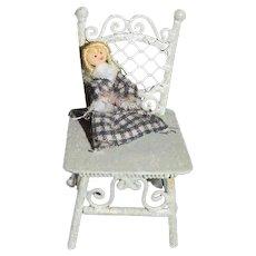 Miniature Doll Artist Doll Dollhouse Doll in Chair