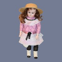 "Antique Doll Bisque Head CM Bergmann Simon Halbig Sweet Girl 24"" Tall"