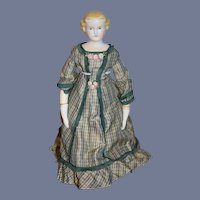Antique Doll Parian Cabinet Size Wonderful Dress