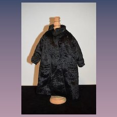 Vintage Doll Black Coat Fur Wonderful Jacket