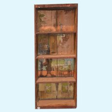 Antique Doll Dollhouse Dunham's Cocoanut Dollhouse Litho & Wood 1890's
