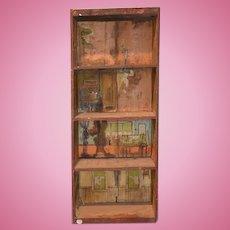 Antique Doll Dollhouse Dunham's Cocoanut Dollhouse Litho & Wood 1890's