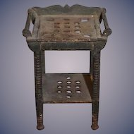 Antique Doll Wash Stand W/ Towel Racks For Dollhouse Painted