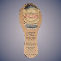 "Old Papier Mache & Paper Jester Clapper Noise Maker Wonderful For Doll ""DE LA MORA"""