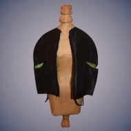 Wonderful Old Doll Cape For French Doll W/ Arm Holes