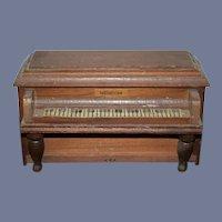 Wonderful Vintage Doll Wood Miniature Piano For Dollhouse