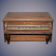 Wonderful Vintage Doll Wood Miniature Piano For Dollhouse
