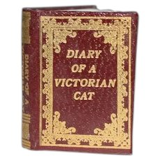 Wonderful Doll Miniature Book Diary Of A Victorian Cat By Barbara Raheb 1993 Numbered