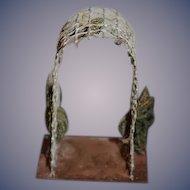 Old Doll Metal Ornate Miniature Trellis For Garden Dollhouse Old Metal