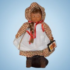 Vintage Artist Doll Wood Beckett Originals Carved Doll Sweet Signed and Numbered