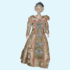"""Wonderful Artist Wood Carved Doll Jointed Carved Fancy Hair Style Wonderful Detail 18"""" Tall"""