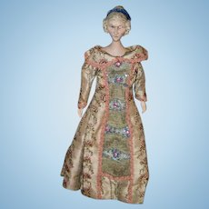 "Wonderful Artist Wood Carved Doll Jointed Carved Fancy Hair Style Wonderful Detail 18"" Tall"