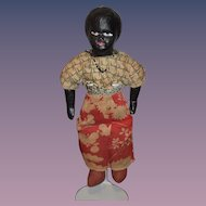 Old Black Doll Papier Mache Wonderful Unusual
