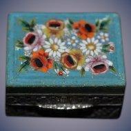 Antique Doll Miniature Hinged Italian Mosaic Box Ornate