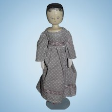 Old Doll Wood Grodnertal Jointed Doll Pegged Doll Penny Doll