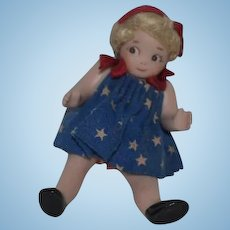 Miniature Artist Doll Dollhouse Character Too Cute Cathy Hansen