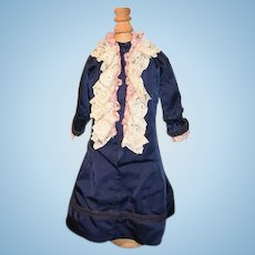 Vintage Doll Hand Made Dress w/ Lace Front