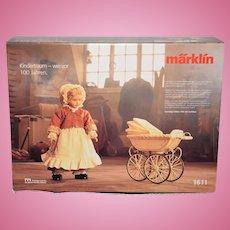 Vintage Marklin Doll Pram Buggy W/ Heidi Ott Artist Doll in Original Box