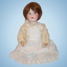 """Antique Jutta Doll 1914 Baby Bisque Baby Body Composition BIG 26"""" Tall"""