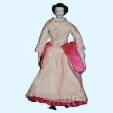 Antique Doll China Head Waterfall Petite Size Kloster Veilsdorf Dressed Original Old Body