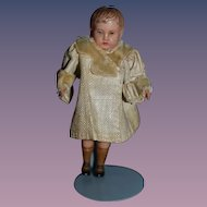 Old Doll Miniature Celluloid Factory Clothes Dollhouse Boy Cutie!