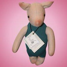 Wonderful Piglet From Winnie The Pooh R. John Wright W/ Tags Felt Doll Artist Doll 805/1000 Limited Ed