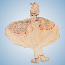 Art Deco Lady Doll Pajama Bag Laundry Bag Sweet! Cloth Doll