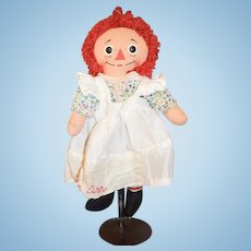 Vintage Doll Raggedy Ann Cloth Doll